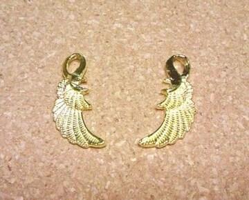 翼チャーム2個ゴールド