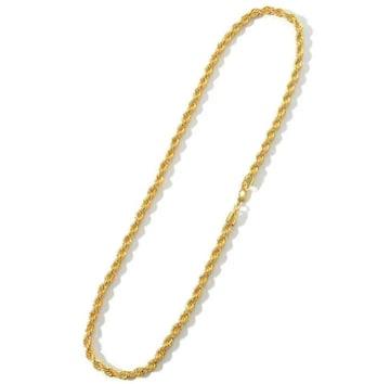 売り切れ御免!ロープ ゴールド 金 ネックレス ハワイアン