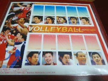 全日本バレーボール 男子 2004年 受注販売品 80円切手 台紙付 シート