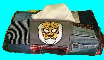 タイガーマスク★★パッチワーク ティッシュボックス