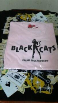 ブラックキャッツtシャツ�呑カビリークリームソーダピンクドラゴンキャットストリート1950カンパニー