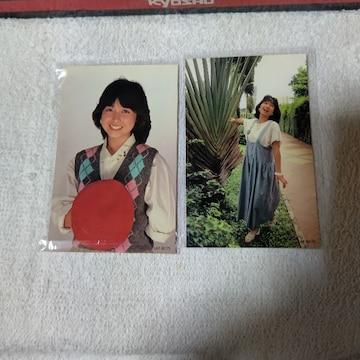 フォトカード '84 倉沢淳美 かなえ わらべ   2枚