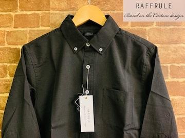表記M/新品!7分袖 BD ボタンダウンシャツ 黒 アメカジ サーフ 西海岸スタイル