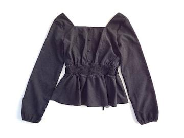 新品 定価4200円 アルシーヴ archives レース ブラウス 黒