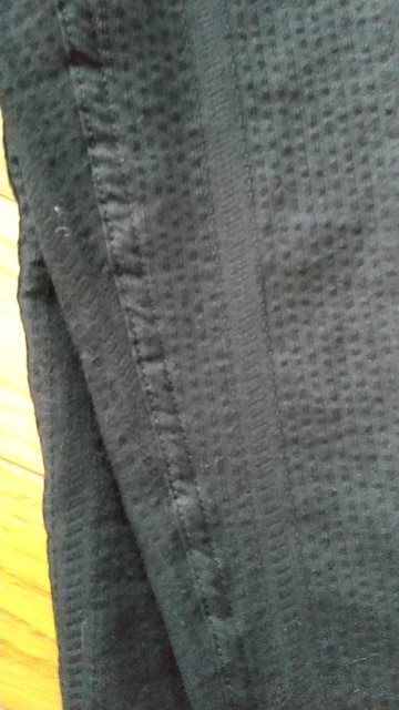 Lサイズ!ブランド品kansai!涼しいしじら織り!前開きあり膝下丈ステテコ! < 男性ファッションの