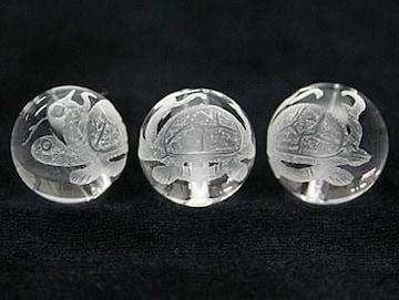 風水四神獣☆玄武水晶12mmビーズ1個