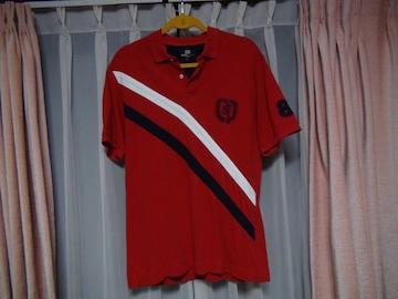 ミチコロンドンのポロシャツ(M)赤!。