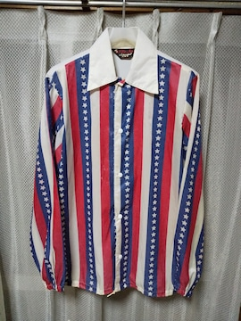 古着 ヴィンテージ Pla-Jac ナイロン コーチジャケット Sサイズ  白 星条旗 USA製