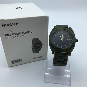 NIXON ニクソン 腕時計 TIME TELLER ACETATE 迷彩 カモフラ 総柄