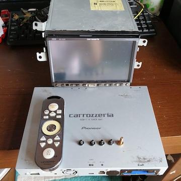 動作品!パイオニアHDDカーナビAVIC-HRZ88チューナーリモコン付