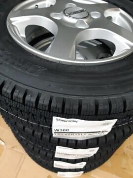 145/80R12 80/78N スタッドレスタイヤ、アルミ付4本セット