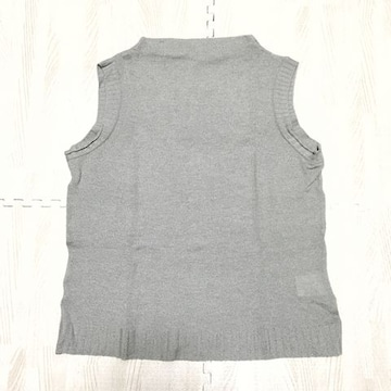 【used】ウール混モックネック ノースリーブニット/M/グレー