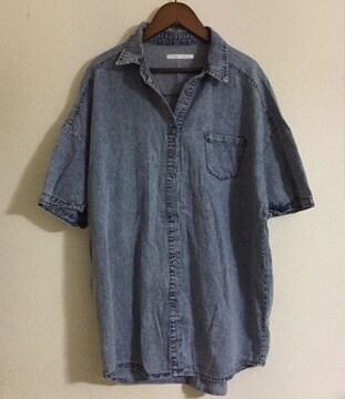 #RETRO GIRLデニムゆるシャツ☆M
