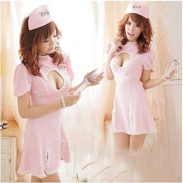 コスプレ ナース服 ピンク