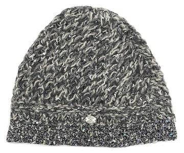 正規シャネルニットキャップ帽子ニット帽ココマークカシミヤミ