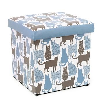 収納BOXスツール  ネコ 猫 ミネット 動物 小物入れ おもちゃ箱