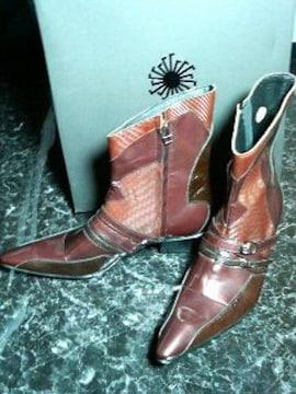 トルネードマート〓新品〓ベルトアクセントブーツ靴〓ボルドー/S