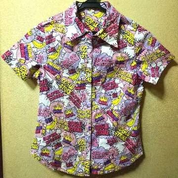 ココルルUSED★ポップなストレッチ半袖シャツ