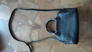 ジャンポールゴルチェ・2wayバッグ・黒×ロゴ