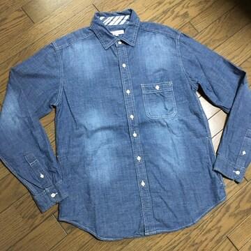 美品 TAKEO KIKUCHI デニムシャツ タケオ キクチ