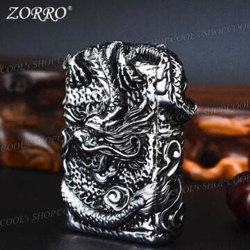昇り龍 フルメタルジャケット オイルライター ZORRO 竜 zippo