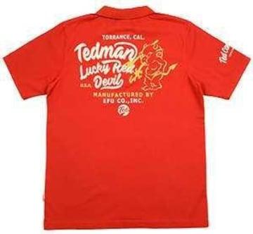 テッドマン/ポロシャツ/レッド/TMSP-600/エフ商会/カミナリモータース
