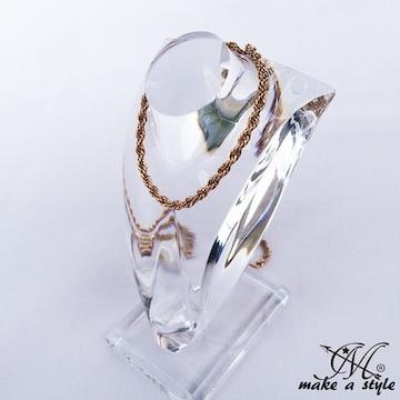 ロープ チェーン 金 ゴールド GOLD ネックレス セレブ 584