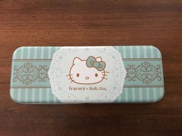 ハローキティ Hello Kitty 缶ペンケース 筆箱 ミントグリーン