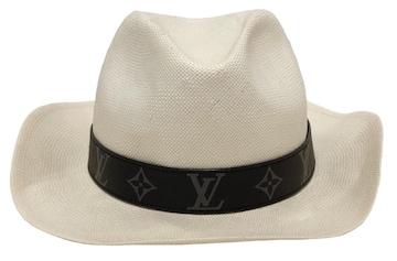 正規ルイヴィトン帽子パナマハットパナマ帽モノグラムM7