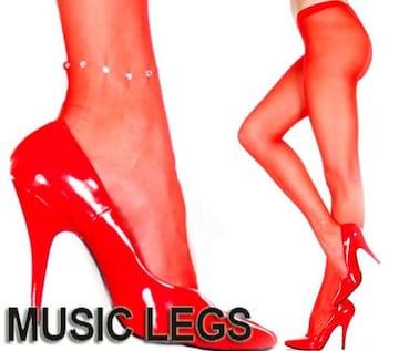 A240)MUSICLEGSラインストーンアンクレットストッキング赤レッドタイツパーティーダンス衣装