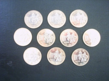 ★地方自治60周年500円貨(青森県) 10枚★