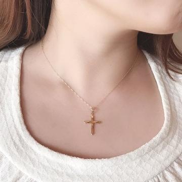 【新品未使用】K18 ネックレス ゴールド クロス 十字架 18金