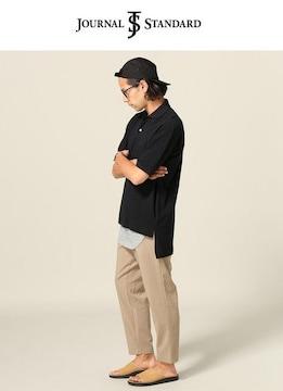 ジャーナルスタンダード*journal standard★カノコ bigポロシャツ(M)/新品ブラック