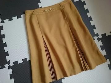 LINK IT ALL リンクイットオール☆タック入りスカート★マスタード☆日本製★