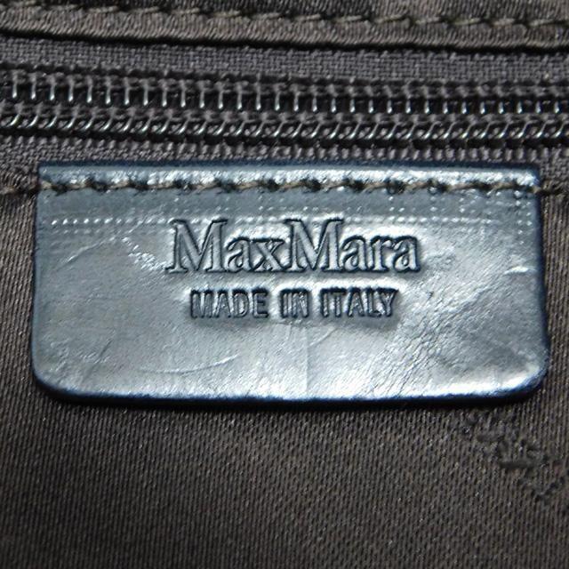 美品Max Maraマックスマーラ ハンドバッグ 2WAY 紺  正規品 < ブランドの