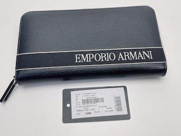 D546 未使用★ エンポリオアルマーニ ラウンドファスナー 長財布