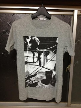 UT ユニクロ ボクサー フォトプリント 半袖Tシャツ Sサイズ グレー 灰色 モノクロ