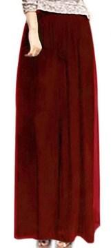 ゆったり シフォン★ スカーチョ★ワイド パンツ (Mサイズ赤
