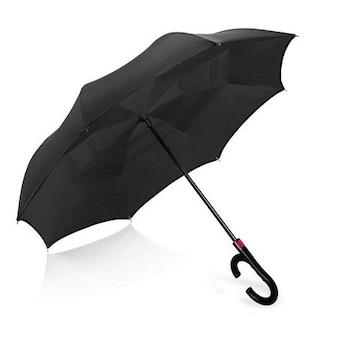 逆さ傘 長傘 逆折り式傘 日傘 雨傘 自動広ける 手離れC型手元