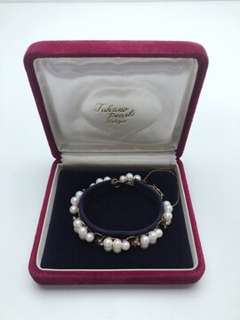 N174 Jakano pearls 14K 海水パール プレスレッド