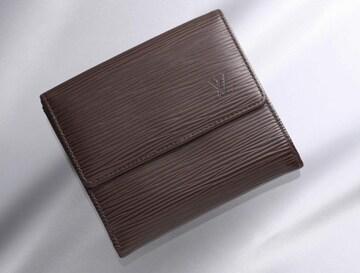 K0637M 外側美品 ヴィトン エピ 本革 二つ折 財布 内側訳あり