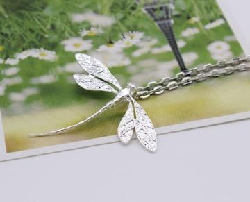 ★ネックレス ペンダント アクセサリー チェーン トンボチャーム