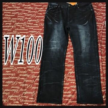 W100・暖かストレッチデニムパンツ新品/MCAc-102