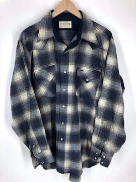 PENDLETON(ペンドルトン)80S 白タグ オンブレウエスタンシャツシャツ