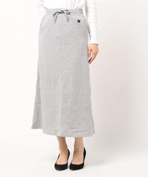 タグ付き新品未使用ロデオクラウンズ/マキシスカートSグレー女性
