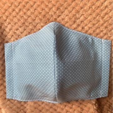 立体インナーマスク 大人用 水玉ブルー