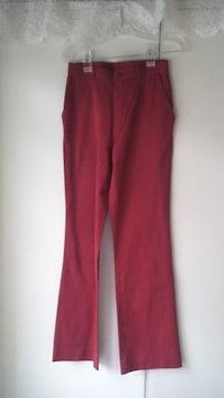 中古・美品ストレッチパンツ(赤)