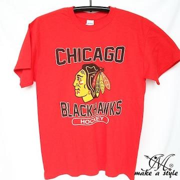 訳あり品 シカゴ NHLブラックホークス Tシャツ 半袖 579M