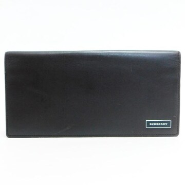 BURBERRYバーバリー 二つ折り長財布 レザー 濃茶 良品 正規品