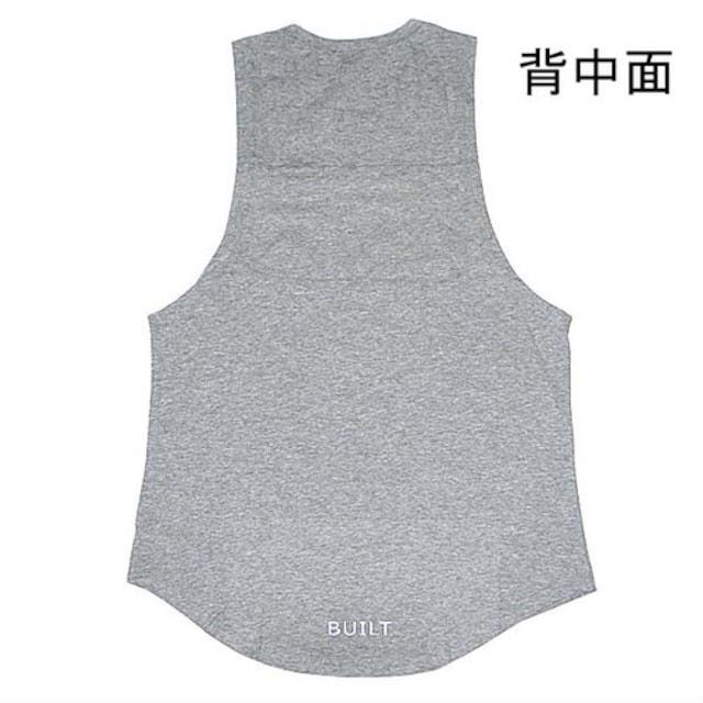 【グレー・XL】タンクトップ メンズ トレーニングウエア < 男性ファッションの